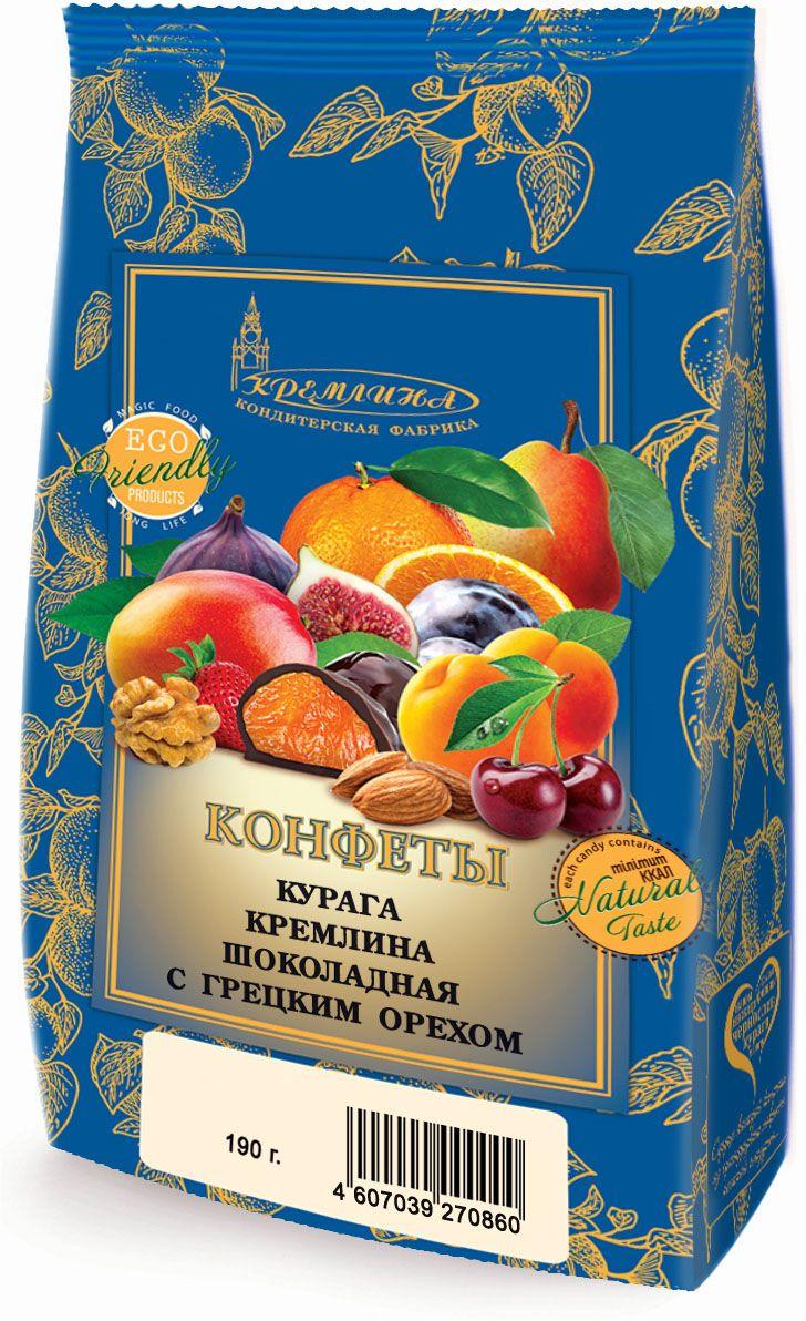 Кремлина Курага в шоколаде с грецким орехом, 190 г4607039270860Полезное лакомство - слоган компании Кремлина. В своих продуктах компания совмещает прекрасный вкус и высокую ценность для здоровья. Бережно привезенная курага из теплой Турции богата антиоксидантами и микроэлементами. Сделайте комплимент вашим вкусовым рецепторам и здоровью.