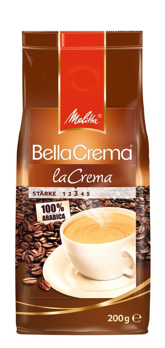 Melitta BellaCrema LaCrema кофе в зернах, 200 г00800100% АрабикаМягкий, ароматный кофеКремовый вкус и легкая пенка Идеально сочетается с десертами Мягкая упаковка с клапаном Предназначен для приготовления кофе в кофеварках и кофемашинах Можно молоть вручную и варить в турке