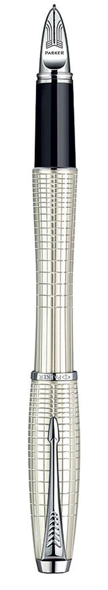 Parker Ручка-роллер Urban Premium Pearl Metal Chiselled цвет корпуса перламутровыйPARKER-S0976030Ручка-роллер с черными чернилами Parker Urban Premium Pearl Metal Chiselled сочетает в себе высокую функциональность и потрясающе красивый дизайн. Изящная ручка выполнена в роскошном цвете перламутр с оригинальными геометрическими линиями, которые придают этой модели еще больше элегантности. Блеск хромированных деталей подчеркивает безупречное качество и великолепное исполнение ручки. Стильный и характерный для продукции Parker клип в виде стрелы делает роллер Urban Premium просто неотразимым и всегда узнаваемым.Корпус ручки изготовлен из высококачественной нержавеющей стали, которая способна выдержать серьезные механические воздействия. Такую ручку можно носить с собой, активно ее эксплуатировать и не бояться, что с ней что-то случится. Ручка-роллер упакована в фирменный футляр с логотипом компании Parker. В футляре предусмотрено дополнительное отделение, в котором расположен международный гарантийный талон и стержень. Ручка Parker Urban Premium Pearl Metal Chiselled подчеркнет стиль и элегантность ее владельца и станет превосходным подарком ценителю изящества и роскоши.Ручка - это не просто пишущий инструмент, это - часть имиджа, наглядно демонстрирующая статус, характер и образ жизни ее владельца.