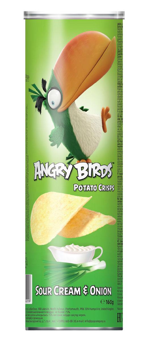 Angry Birds чипсы со вкусом сметаны и лука, 160 г0120710Хрустящая картофельная закуска Angry Birds со вкусом сметаны и лука составит компанию фильму или пиву! Возьмите с собой - на пикник, в дорогу или в кинотеатр! Благодаря удобной тубе они не сломаются и не рассыплются. Рекомендуется подавать с кисло-сладкими и сливочными соусами. Уважаемые клиенты! Обращаем ваше внимание, что полный перечень состава продукта представлен на дополнительном изображении.