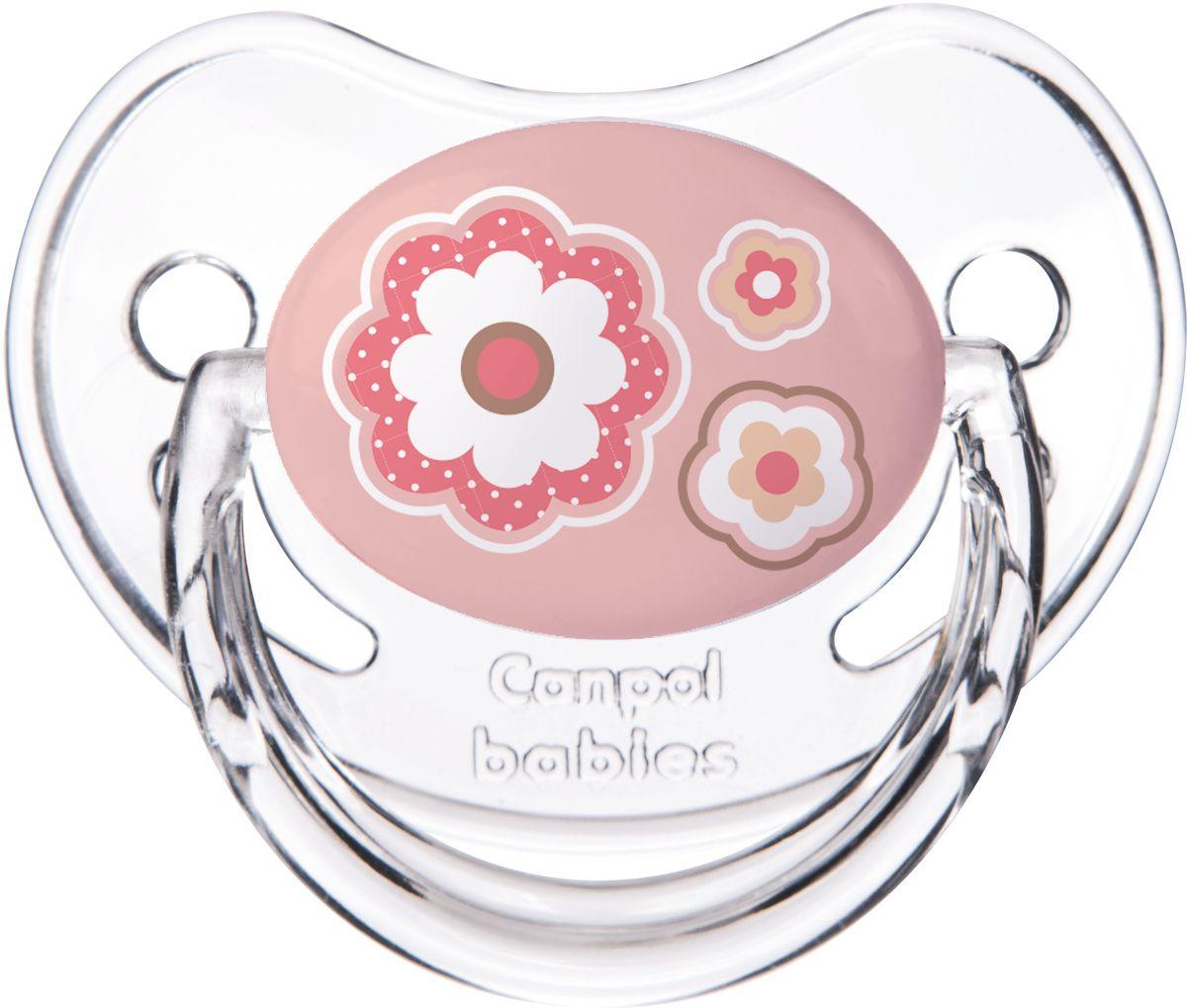 Canpol Babies Пустышка силиконовая Newborn Baby от 0 до 6 месяцев цвет розовый