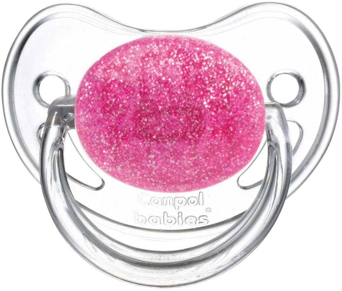 Canpol Babies Пустышка латексная Moonlight от 0 до 6 месяцев цвет розовый