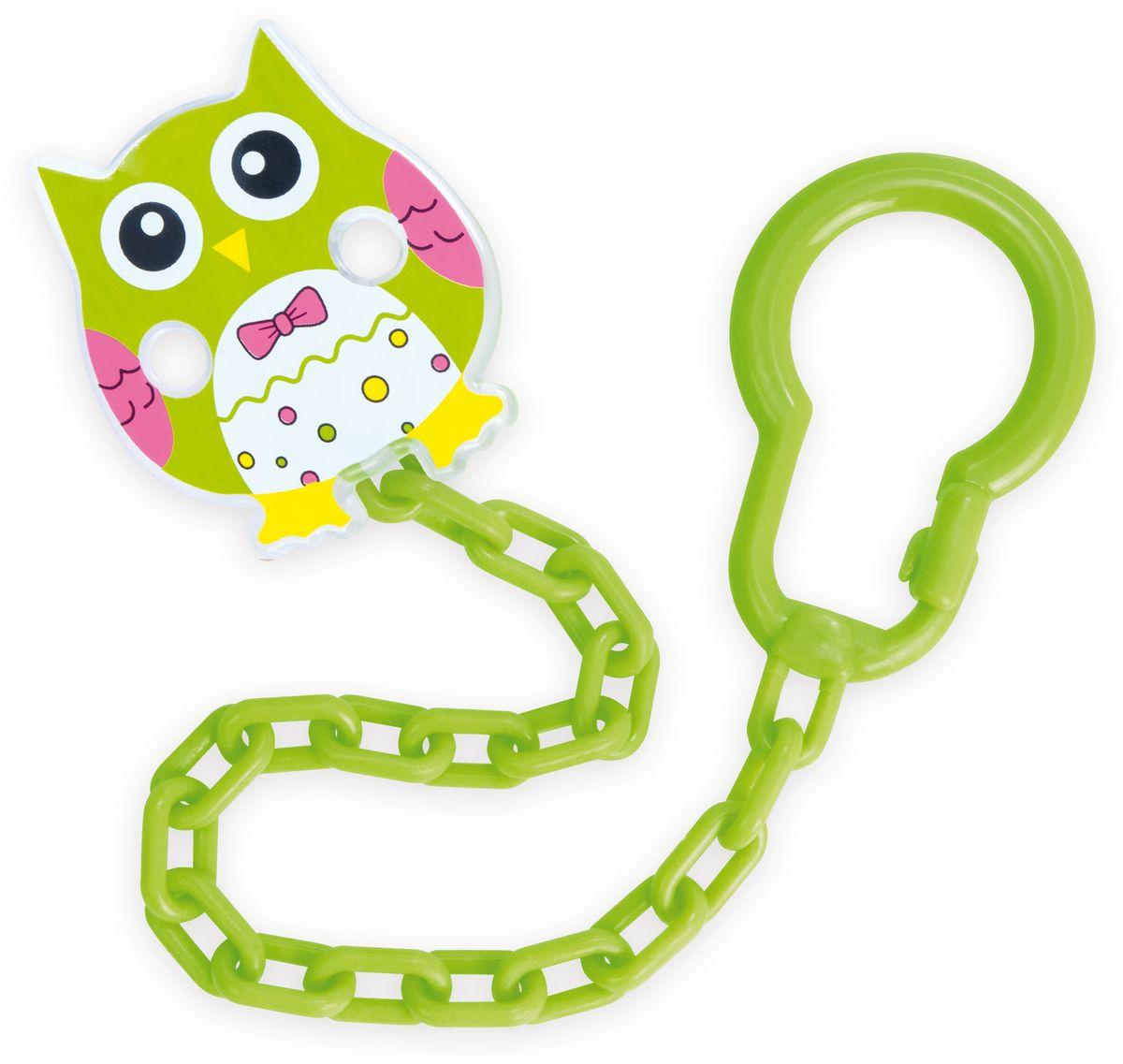 Canpol Babies Клипса-держатель для пустышки Сова цвет зеленый
