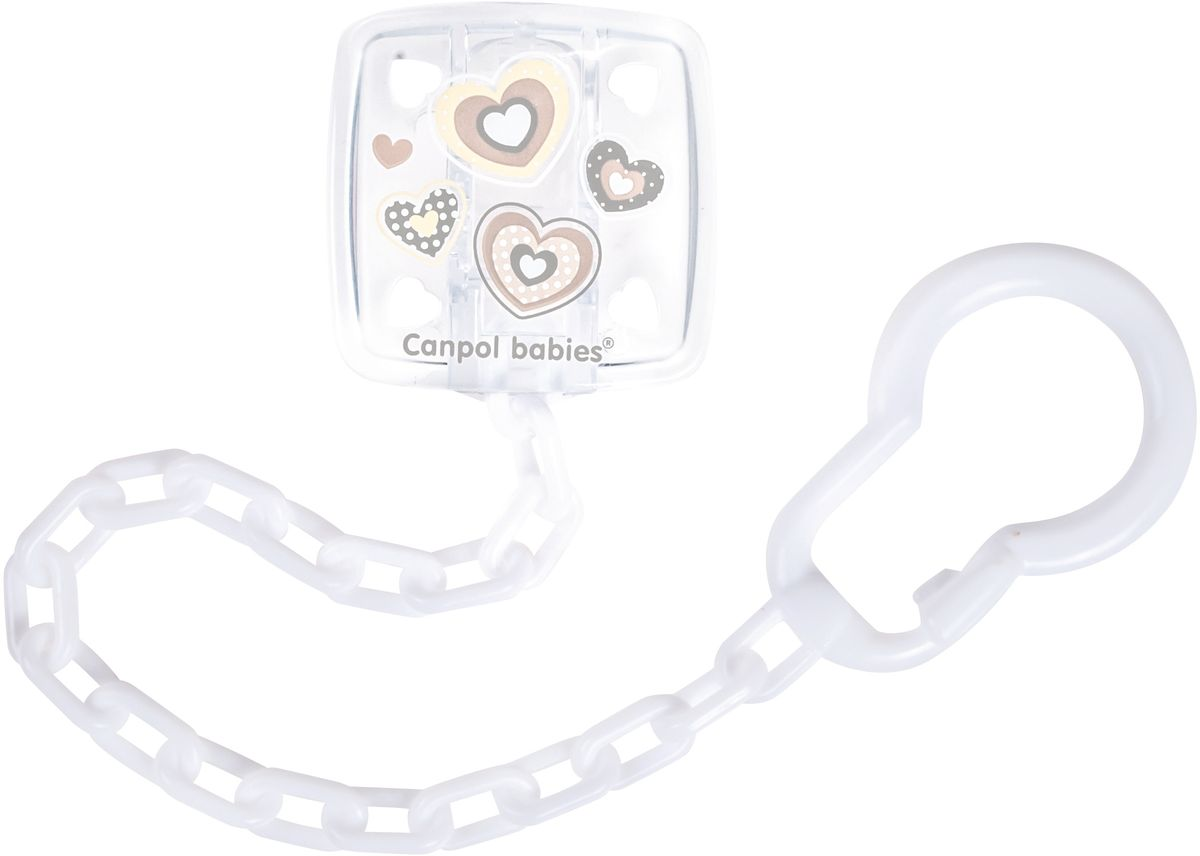 Canpol Babies Клипса-держатель для пустышки Newborn Baby цвет белый -  Все для детского кормления