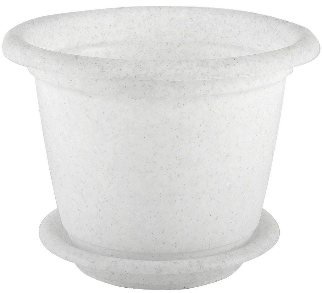 Кашпо Idea Ламела, с поддоном, цвет: мраморный, 800 млGBS-8-90Кашпо Idea Ламела изготовлено из высококачественного пластика. Специальный поддон предназначен для стока воды. Изделие прекрасно подходит для выращивания растений и цветов в домашних условиях. Лаконичный дизайн впишется в интерьер любого помещения. Диаметр поддона: 11 см. Диаметр кашпо по верхнему краю: 13 см.Высота кашпо: 11 см.Объем кашпо: 800 мл.