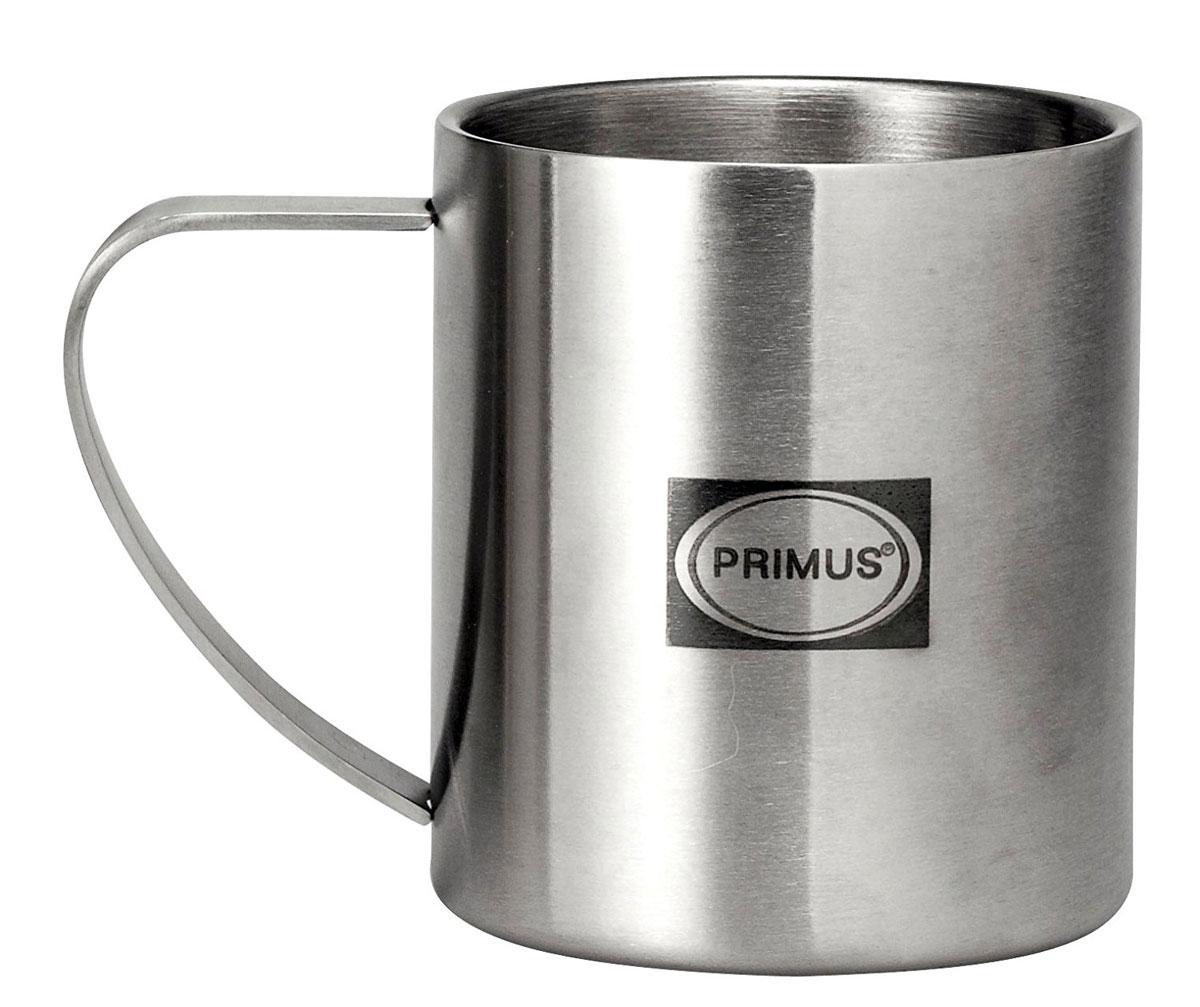 Термокружка Primus 4-Season Mug, цвет: серый, 200 мл732250Прочная кружка с двойными стенками из полированной высококачественной нержавеющей стали