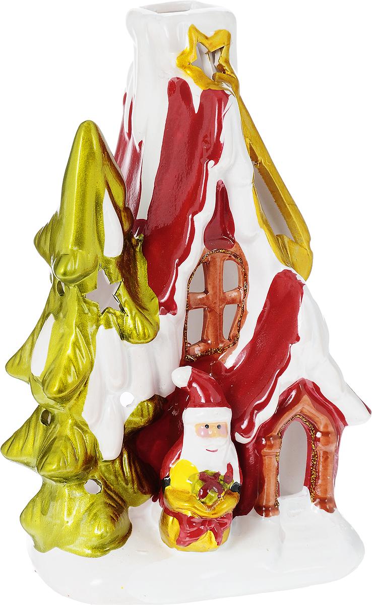 Подсвечник новогодний Winter Wings Дом Деда Мороза, 10 х 10 х 17,5 смDHS3160Подсвечник Winter Wings Дом Деда Мороза, изготовленный из керамики, станет прекрасным украшением интерьера помещения в преддверии Нового года. Подсвечник выполнен в виде дома Деда Мороза. Имеется отверстие для чайной свечи (свеча входит в комплект). Зажигать свечи в Новый год - неизменная традиция, которая позволяет наполнить дом волшебством и таинственностью новогодней ночи.