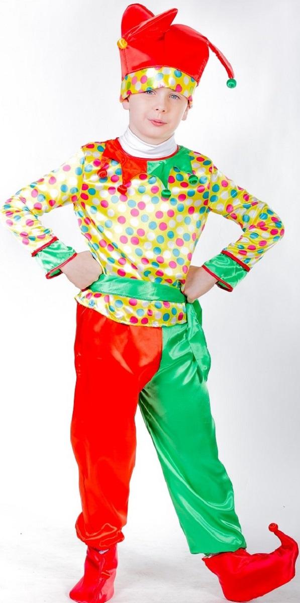 Карнавалия Карнавальный костюм для мальчика Петрушка размер 134