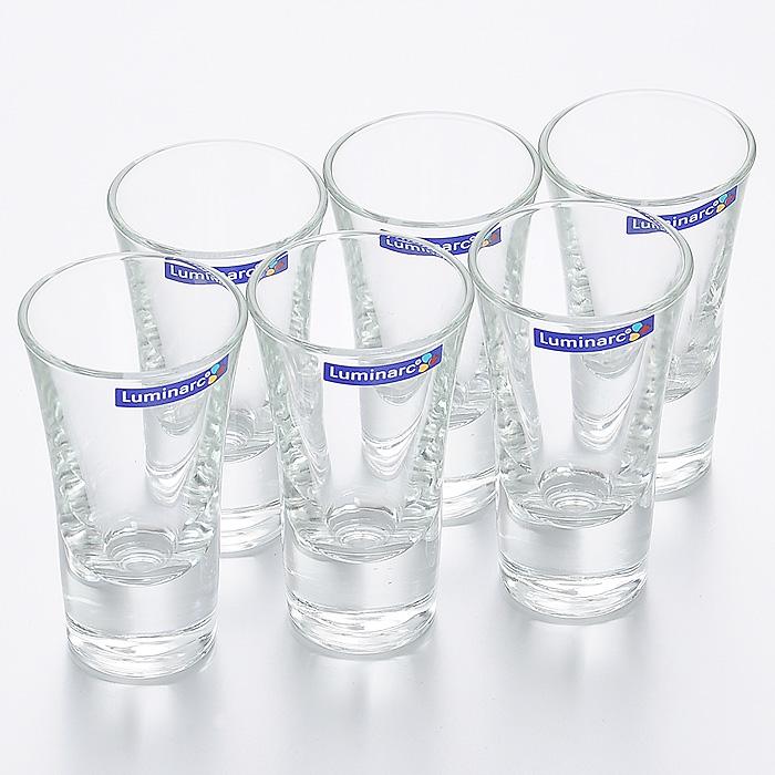 Набор стопок Luminarc Москва, 50 мл, 6 штH5067Набор Luminarc Москва состоит из шести стопок, выполненных из высококачественного стекла. Стопки предназначены для подачи крепких алкогольных напитков. Они сочетают в себе элегантный дизайн и функциональность. Благодаря такому набору стопок пить напитки будет еще приятнее.Набор стопок Luminarc Москва идеально подойдет для сервировки стола и станет отличным подарком к любому празднику.Характеристики:Материал: натрий-кальций-силикатное стекло.Объем стопки: 50 мл.Диаметр стопки по верхнему краю: 5 см.Высота стопки: 8,7 см.Диаметр основания стопки: 3,2 см.Комплектация: 6 шт.