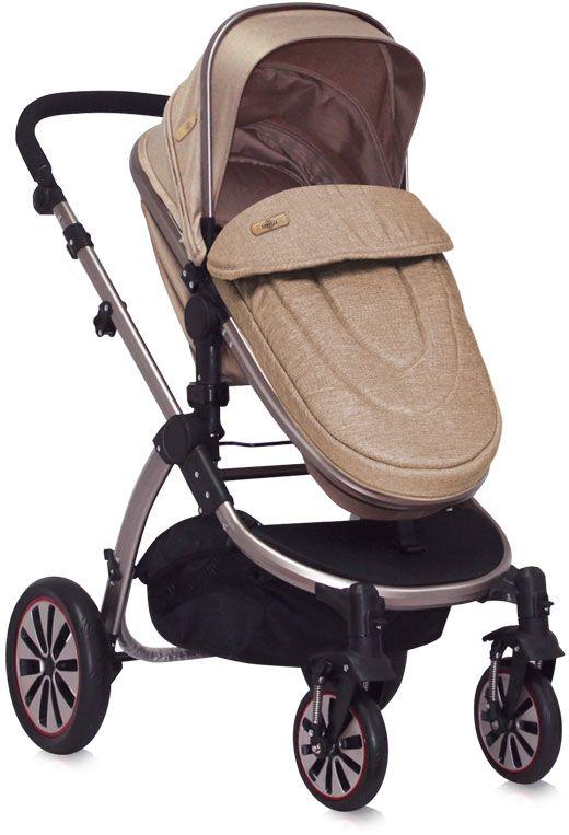Lorelli Коляска-трансформер Aurora New York цвет бежевый надувные колеса - Коляски и аксессуары