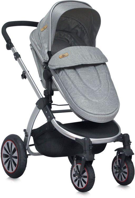 Lorelli Коляска-трансформер Aurora Paris цвет серый надувные колеса - Коляски и аксессуары