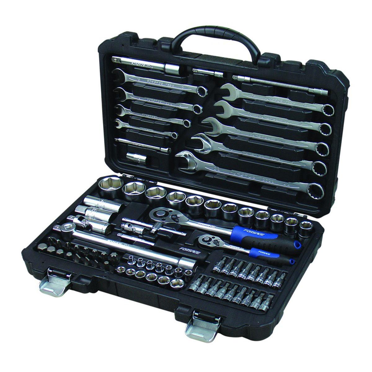 Набор инструментов универсальный Forsage, 82 предмета. 4821-5 набор головок forsage 16 предметов 4161 5