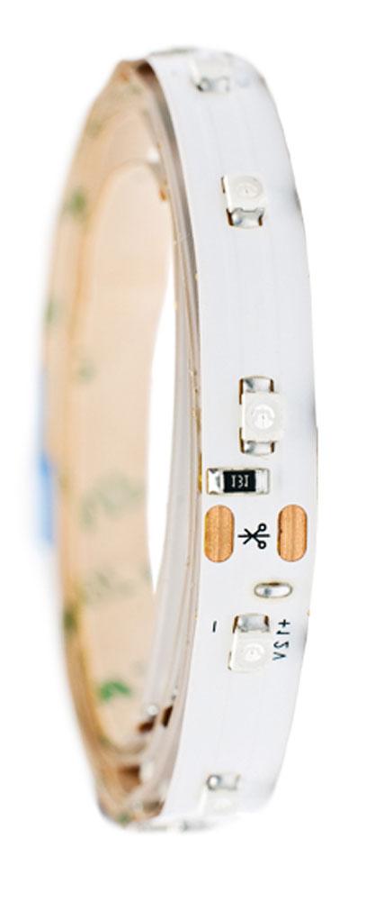 Лента светодиодная Главдор, цвет: белый, 300 мм112829Гибкая светодиодная лента для декоративной подсветки фиксируется с помощью двухстороннего скотча. Питание: 12В. Длина: 300 мм. Белый источник света.