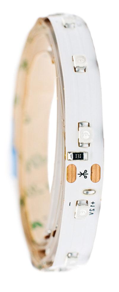 Лента светодиодная Главдор, цвет: красный, 600 мм10503Гибкая светодиодная лента для декоративной подсветки фиксируется с помощью двухстороннего скотча. Питание: 12В. Длина: 600 мм. Красный источник света.