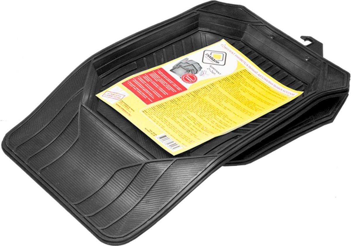 Коврики в салон Главдор, универсальные, передние, задние. GL-2698298130Универсальные автомобильные коврики Главдор полностью повторяют геометрию салона автомобиля. Конфигурация позволяет использовать ковры для автомобилей с АКП и МКП. Коврики, выполненные из высококачественных, экологичных материалов, имеют функциональную поверхность с антискользящей обратной стороной. Новейшая технология производства позволяет создавать качественное изделие с увеличенным сроком эксплуатации. Коврики эластичны, устойчивы к деформациям, перепадам температур и изменениям влажности. Универсальные автомобильные коврики Главдор защищают ковровые покрытия салона от грязи, воды, слякоти и снега.