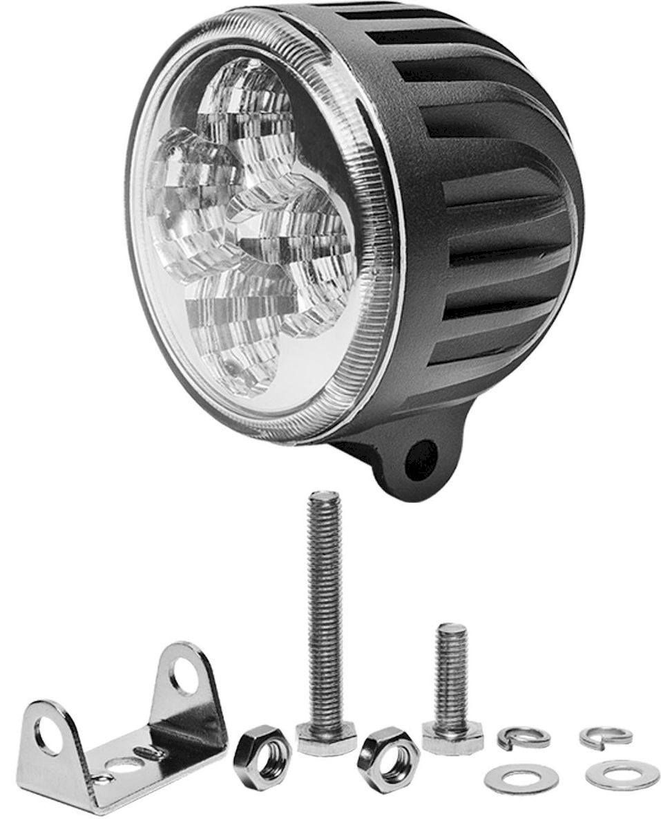 Фара светодиодная дополнительная Главдор FLOOD-C 12W 4 диода, 12/24В, 85х70х85 мм. GL-40410503Дополнительный источник освещения в металлическом корпусе, на основе светодиодных источников света. Крепление в комплекте.