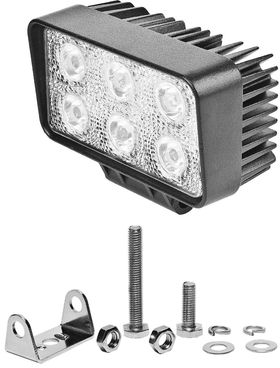 Фара светодиодная Главдор SPOT-S 18W, дополнительная, 6 диодов, 12/24В. GL-409GL-409Круглая светодиодная фара Главдор SPOT-S 18W - дополнительный источник освещения в металлическом корпусе, на основе девяти светодиодных источников света (диодов). В комплекте имеется крепление для установки.