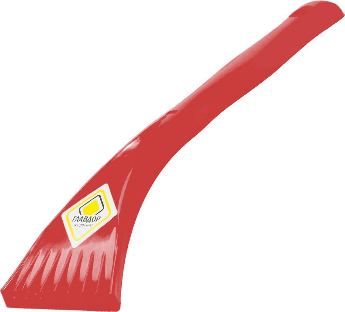 Скребок Главдор, цвет: красныйVCA-00Скребок Главдор выполнен из пластика и предназначен для очистки стекол ото льда и снега.