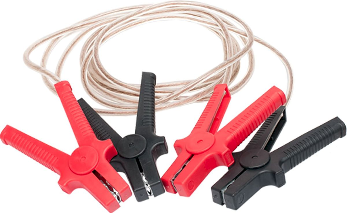 Провода пусковые Главдор, силиконовая обмотка, 500А, 3 м. GL-57AMC-00070Пусковые провода Главдор, выполненные из меди в силиконовой обмотке, предназначены для соединения одноименных клемм аккумуляторов автомобилей для того, чтобы осуществить дополнительную подпитку стартера в автомобиле с разряженной аккумуляторной батареей или загустевшим от мороза маслом. Применяются для запуска двигателей легковых и грузовых автомобилей при низкой температуре воздуха в холодное время года, а также после длительного хранения автомобиля, вызвавшего саморазряд аккумуляторной батареи.Особенности пусковых проводов: - морозостойкий эластичный кабель в резиновой изоляции, - многожильный медный проводник, - полностью изолированные зажимы, - надежные пропаянные соединения провода с зажимами.Температура эксплуатации -50 - +80°С.Длина: 3 м. Напряжение: 500А.