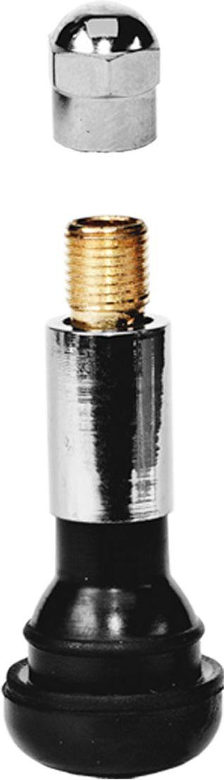 Вентиль для бескамерных шин Главдор, 14, цвет: серебристый, черный, 4 штAPS-4L-01Эластичная структура вентилей, изготовленных из резины и хромированного металла, обеспечивает полную герметизацию и беспрепятственную подачу воздуха в момент накачки колеса и проверки давления даже при сильном изгибе вентиля.В комплекте 4 шт.