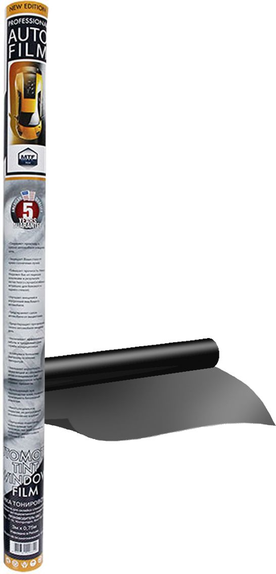 Пленка тонировочная MTF Original, 05% Сharcol, 0,5м х 3мCA-3505Тонировочная пленка - предназначена для защиты от интенсивных солнечных излучений, обладает безупречной оптической четкостью, чистые оттенки серого различной плотности, задерживает ультрафиолетовое излучение, защитный слой от образования царапин, 5 лет гарантии от выцветания.
