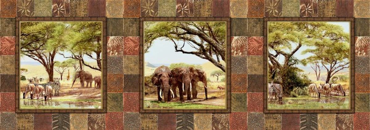 Панно декоративное Твоя Планета Африканские наброски, 315 х 110 смБрелок для сумкиДекоративное настенное панно Твоя Планета Африканские наброски,станет идеальным украшением загородного дома или рабочего кабинета. Панно оформлено изображением животных Африки.Панно выполнено на флизелиновой основе с виниловым покрытием.Такое панно станет изысканным дополнением к интерьеру и подчеркнет аристократичность и безупречное чувство вкуса своего будущего обладателя.
