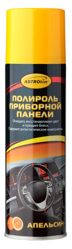 Полироль приборной панели ASTROhim Апельсин, 335 мл0008-SBPПолироль приборной панели ASTROhim не только сохранит первоначальный вид пластика надолго, но и защитит от факторов, влияющих на его старение, таких как перепады температур и ультрафиолетовое излучение. Особенности: - Эффективно очищает и полирует элементы интерьера автомобиля из пластика, винила, резины и кожзаменителя. - Придает эффектный глянцевый блеск. - Образует на поверхности тонкую полимерную пленку, которая защищает от разрушительного действия ультрафиолетового излучения, предотвращает выгорание и растрескивание пластика. - Восстанавливает цвет пластиковой отделки. - Предотвращает притягивание пыли к приборной панели, так как содержит антистатические компоненты. - Не оставляет жирной и липкой пленки. - Обладает приятным ароматом. - Не содержит спирт, поэтому безопасен для всех видов пластика. Товар сертифицирован.