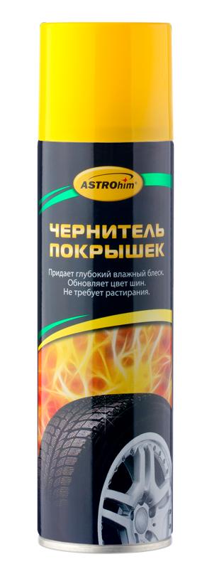 Чернитель покрышек ASTROhim, 335 млRC-100BWCЧернитель покрышек ASTROhim применяется для улучшения внешнего вида шин и дополнительной защиты резины от обесцвечивающего действия дорожных реагентов и ультрафиолета. Придает покрышкам интенсивный влажный блеск мокрых шин, восстанавливает их первоначальный цвет. Создает на поверхности грязеотталкивающий и водоотталкивающий слой. Предохраняет поверхностный слой резины от растрескивания. Не требует растирания. После высыхания не оставляет разводов.Способ применения:Перед использованием энергично встряхнуть баллон в течение 1-2 минут. Наносить средство на хорошо вымытые покрышки. Допускается наносить на влажную поверхность. Распылить с расстояния 20-30 см на обрабатываемую поверхность, избегая попадания на протектор. В случае попадания на колесные диски удалить средство мягкой ветошью.Состав: нефтяной растворитель >30%, силиконовые полимеры 5-15%, ароматизатор 30%.Товар сертифицирован.