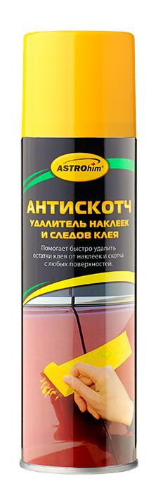 Антискотч Astrohim, удалитель наклеек и следов клея, аэрозоль, 335 мл. АС-356CA-3505Антискотч, удалитель наклеек и следов клея Astrohim АС-356 аэрозоль, 335 мл