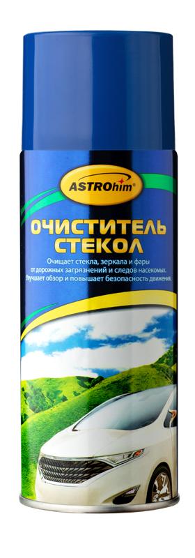 Очиститель стекол Astrohim, аэрозоль, 520 млNTS-101C blueОчиститель стекол Astrohim эффективно очищает стекла от дорожных загрязнений и масляно-жировой пленки, придавая стеклам абсолютную прозрачность и не оставляя разводов. При нанесении образует пену, которая не стекает при обработке вертикальных поверхностей.Действует быстро, так как содержит специальные смачивающие добавки, которые усиливают действие активных компонентов.Подходит для использования как снаружи, так и внутри автомобиля.При использовании для очистки стекол в салоне автомобиля эффективно удаляет никотиновую пленку и не повреждает тонировочную пленку.Предотвращает появление царапин на стекле.Может использоваться для очистки поликарбонатного пластика фар автомобиля.Улучшает обзорность и повышает безопасность движения.Безопасен для лакокрасочного покрытия, хромированных, пластиковых и резиновых поверхностей автомобиля, так как не содержит аммиак.Обладает приятным ароматом зеленого яблока.