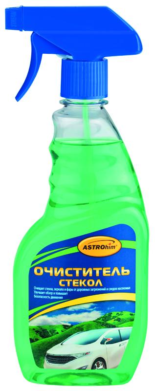 Очиститель стекол Astrohim, спрей, 500 млFL073Очиститель стекол Astrohim действует быстро, так как содержит специальные смачивающие добавки, которые усиливают действие активных компонентов. Эффективно очищает стекла от дорожных загрязнений и масляно-жировой пленки, придавая стеклам абсолютную прозрачность и не оставляя разводов. Подходит для использования как снаружи, так и внутри автомобиля.При использовании для очистки стекол в салоне автомобиля эффективно удаляет никотиновую пленку и не повреждает тонировочную пленку. Предотвращает появление царапин на стекле. Может использоваться для очистки поликарбонатного пластика фар автомобиля. Улучшает обзорность и повышает безопасность движения.Безопасен для лакокрасочного покрытия, хромированных, пластиковых и резиновых поверхностей автомобиля, так как не содержит аммиак. Товар сертифицирован.