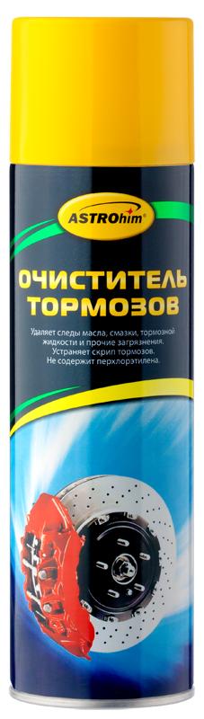 Очиститель деталей тормозов и сцепления ASTROhim, антискрип, 650 млGC204/30Очиститель деталей тормозов и сцепления ASTROhim - это многоцелевой обезжиривающий состав для удаления масла, смазки, тормозной жидкости и других загрязнений с любых видов тормозных систем и их частей, а также деталей сцепления без разборки. Позволяет устранить скрип тормозов. Не оставляет следов, быстро сохнет. Безопасен для резины, винила и пластика. Может использоваться для обезжиривания поверхностей перед склеиванием или герметизацией. Не содержит токсичного перхлорэтилена. Специальная аэрозольная головка формирует мощную струю направленного действия, удаляющую все виды загрязнений. Товар сертифицирован.