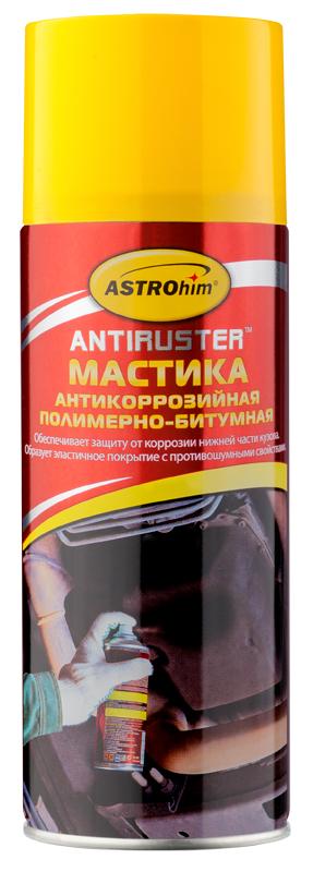Мастика антикоррозийная полимерно-битумная Astrohim, аэрозоль, 520 мл68/3/7Защищает нижние части кузова автомобиля от разрушительного воздействия камней, песка, воды и дорожных реагентов.Обеспечивает дополнительную противошумную изоляцию днища кузова. Предотвращает коррозию, создавая равномерную ударопрочную пленку, непроницаемую для кислорода и агрессивных веществ. Обладает высокой эластичностью, хорошей адгезией и улучшенными прочностными характеристиками.Не растрескивается и не отслаивается на морозе. Образуемое покрытие устойчиво к воздействию дорожных реагентов, солей и щелочи. Надежно защищает в широком интервале температур – от -60 до +105 °C.Безопасна для любых окрашенных и неокрашенных поверхностей, а также для пластиковых и резиновых элементов кузова.Не требует применения дополнительных средств для его сушки.Легко и равномерно наносится благодаря аэрозольной форме распыления.