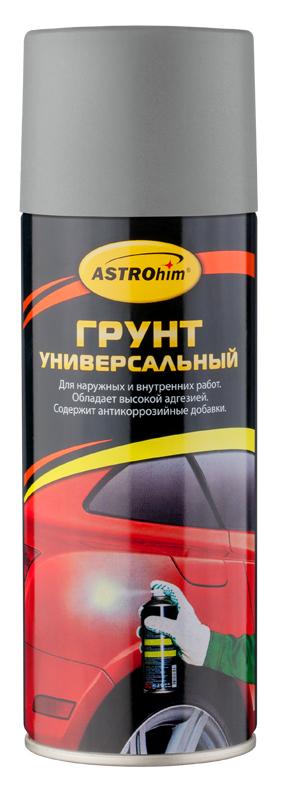 Грунт универсальный ASTROhim, цвет: серый, 520 мл150505Высококачественный алкидный грунт ASTROhim предназначен для подготовки к окраске металлических и деревянных поверхностей всеми видами лакокрасочных материалов, кроме нитроцеллюлозных. Применяется для наружных и внутренних работ. Обладает высокой адгезией, атмосферостойкостью и хорошей укрывистостью. Легко наносится на труднодоступные места. Содержит комплекс антикоррозийных пигментов и добавок. Образует на грунтуемой поверхности прочное покрытие, защищающее металлические поверхности от коррозии, прекрасно шлифуется, устойчиво к воздействию воды и технических масел. Товар сертифицирован.