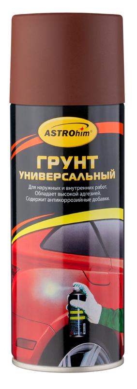 Грунт универсальный ASTROhim, цвет: красно-коричневый, 520 млHG 5730Высококачественный алкидный грунт ASTROhim предназначен для подготовки к окраске металлических и деревянных поверхностей всеми видами лакокрасочных материалов, кроме нитроцеллюлозных. Применяется для наружных и внутренних работ. Обладает высокой адгезией, атмосферостойкостью и хорошей укрывистостью. Легко наносится на труднодоступные места. Содержит комплекс антикоррозийных пигментов и добавок. Образует на грунтуемой поверхности прочное покрытие, защищающее металлические поверхности от коррозии, прекрасно шлифуется, устойчиво к воздействию воды и технических масел. Товар сертифицирован.