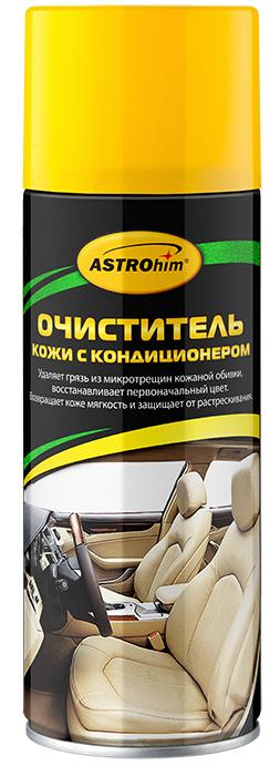 Очиститель кожи ASTROhim, с кондиционером, 520 млCA-3505Очиститель кожи ASTROhim эффективно очищает загрязнения, в том числе из микротрещин кожаной обивки, значительно обновляя ее внешний вид. Содержит специальные поверхностно-активные вещества, которые позволяют удалять даже старые загрязнения, не повреждая при этом естественную структуру кожи. Возвращает кожаной обивке мягкость и эластичность, защищает от сухости, растрескивания и выгорания за счет содержания в составе кондиционирующих добавок. Придает обивке ухоженный внешний вид и шелковистый блеск. Образует на поверхности защитный барьерный слой, благодаря которому поверхность приобретает грязеотталкивающие свойства и меньше загрязняется. Быстро впитывается и не оставляет жирных следов, на сиденья можно садиться практически сразу после очистки, не боясь того, что испачкается одежда. Может использоваться для очистки мотоциклетного снаряжения, а также в бытовых целях, например, для ухода за кожаной мебелью, аксессуарами и одеждой. Подходит для поверхностей из кожзаменителя, винила и резины. Уничтожает неприятный запах в салоне автомобиля, оставляя после использования приятный аромат. Товар сертифицирован.