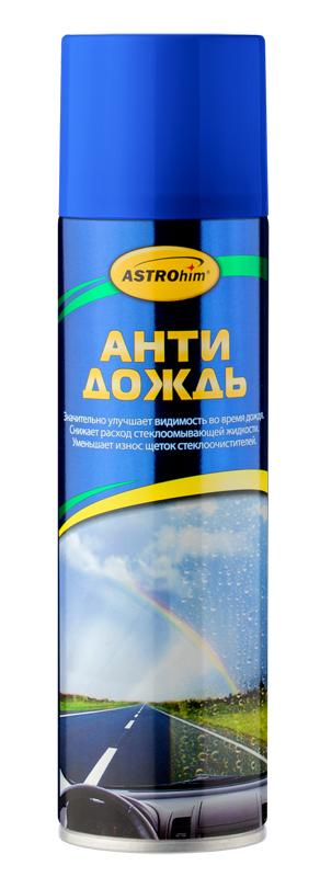 Антидождь ASTROhim, 335 млIRK-503Антидождь ASTROhim при нанесении тонким слоем ложится на поверхность стекла, образуя идеально гладкое, прозрачное, гидрофобное покрытие, на котором капли воды не удерживаются и скатываются под действием собственного веса или потока воздуха. Образуемая пленка значительно снижает сцепление водяных капель или грязи с поверхностью. За счет уменьшения контакта со стеклом вода и грязь практически не задерживаются на стеклах и не мешают обзору водителя. Эффект самоочистки заметен уже при скорости 40 км/ч и нарастает с увеличением скорости. Особенности: - Антидождь придает стеклам мощный водоотталкивающий эффект. - Улучшает видимость во время дождя. - Продлевает срок службы щеток.- Снижает появление царапин на стекле от щеток стеклоочистителя и пескоструйного эффекта. - Улучшает обзор и уменьшает блики при движении в темное время суток, а также во время дождя. - Помогает сократить время реагирования в экстренных ситуациях. - Облегчает удаление со стекол наледи зимой и насекомых летом. - Можно наносить на стекла прямо во время дождя! Товар сертифицирован.