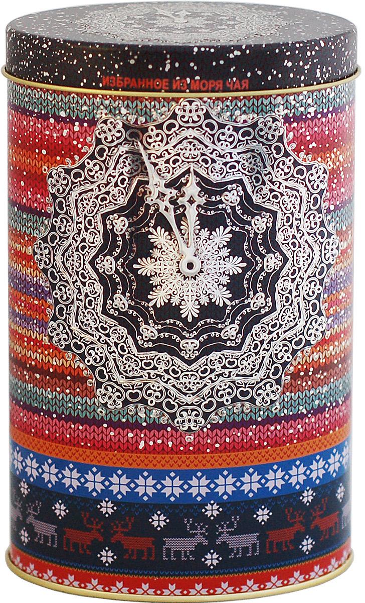 Избранное из моря чая Новый Год Снежные часы. Вязаная (овал) чай черный листовой, 75 г шри гунараджа хан шри кршна виджайа