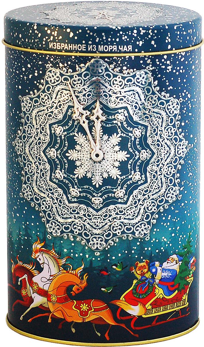 Избранное из моря чая Новый Год Снежные часы. Тройка (овал) чай черный листовой, 75 г шри гунараджа хан шри кршна виджайа