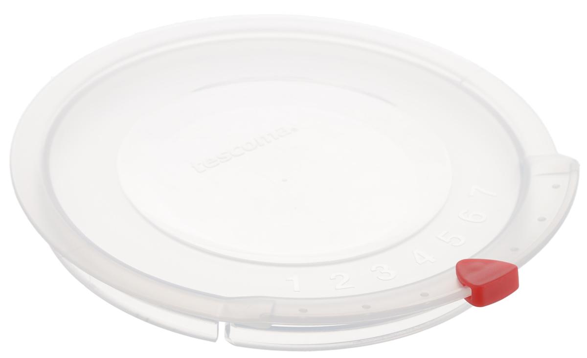 Крышка Tescoma Unicover, диаметр 14 смфн280Крышка Tescoma Unicover используется при хранении еды для закрытия высоких кастрюль, кастрюль и ковшей из нержавеющей стали. Плоская форма крышки позволяет складывать посуду в целях экономии места в холодильнике. Пища, закрытая пластиковой крышкой, не высыхает и не впитывает запахи других продуктов питания. На крышке имеется семидневный датировщик для индикации с первого дня хранения. Изделие выполнено из пластмассового материала, предназначенного для медицинских и фармацевтических целей. Можно мыть в посудомоечной машине.Подходит для кастрюль диаметром 14 см.Диаметр крышки по верхнему краю: 16 см.