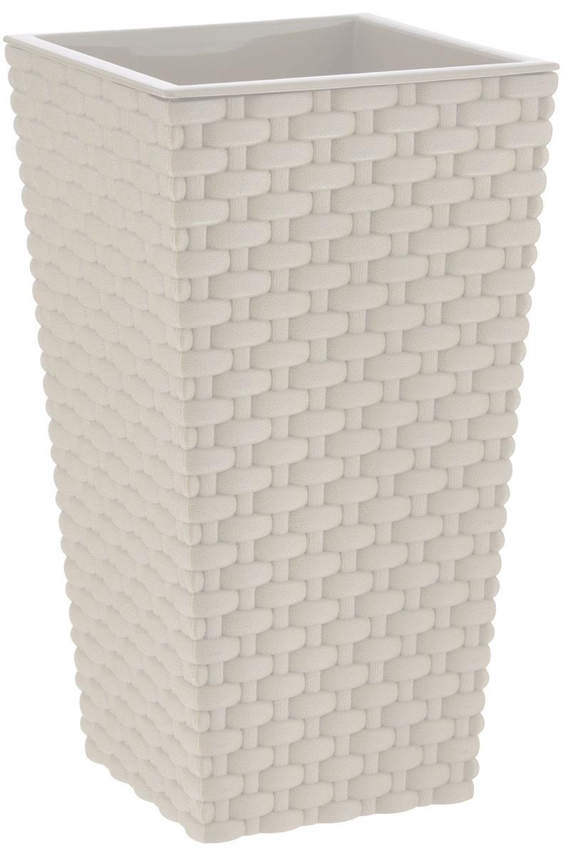 Кашпо Idea Ротанг, цвет: белый, 26 х 26 х 45,7 см531-109Кашпо Idea Ротанг изготовлено из прочного пластика с эффектом плетения. Изделие прекрасно подходит для выращивания растений и цветов в домашних условиях. Устанавливается на пол. Стильный современный дизайн органично впишется в интерьер помещения.