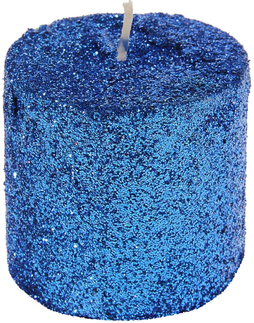 Свеча декоративная Sima-land Столбик, цвет: синий, высота 5 см. 29606174-0120Декоративная свеча Sima-land Столбик изготовлена из воска и украшена множеством блесток. Изделие отличается оригинальным дизайном. Свеча Sima-land Столбик - это прекрасный выбор для тех, кто хочет сделать запоминающийся презент родным и близким. Она поможет создать атмосферу праздника. Такой подарок запомнится надолго.