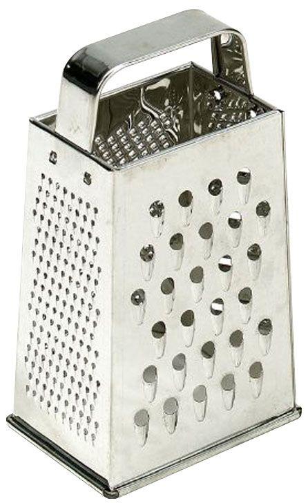 Терка Axentia, высота 21 см115510Четырехгранная терка Axentia, выполненная из высококачественной нержавеющей стали с зеркальной полировкой, станет незаменимым атрибутом приготовления пищи. Терка оснащена удобной ручкой. На одном изделии представлены четыре вида терок. Современный стильный дизайн позволит терке занять достойное место на вашей кухне. Высота терки: 21 см.