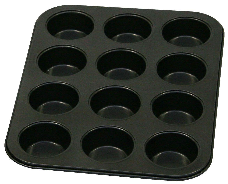 Форма для выпечки кексов Axentia, с антипригарным покрытием, 12 ячеек391602Форма для выпечки Axentia изготовлена из стали с антипригарным покрытием. Такая форма найдет свое применение для выпечки большинства кулинарных шедевров. Форма равномерно и быстро прогревается, выпечка пропекается равномерно. Благодаря антипригарному покрытию, готовый продукт легко вынимается, а чистка формы не составит большого труда. Какое бы блюдо вы не приготовили, результат будет превосходным!Форма подходит для использования в духовке. Перед каждым использованием форму необходимо смазать небольшим количеством масла. Чтобы избежать повреждений антипригарного покрытия, не используйте металлические или острые кухонные принадлежности. Размер формы: 34,5 х 26,5 х 2,5 см.Диаметр ячейки: 6,3 см.Количество ячеек: 12 шт.