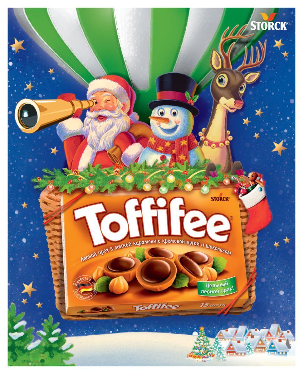 Toffifee Воздушный шар конфеты орешки в карамели, 250 г0120710Секрет конфет Toffifee в интересном сочетании вкуснейших ингредиентов: отборный цельный лесной орех в чашечке из мягкой карамели, наполненной нежной кремовой нугой и покрытой восхитительным шоколадом! Toffifee – это невероятно вкусные конфеты, которые понравятся и взрослым, и детям!