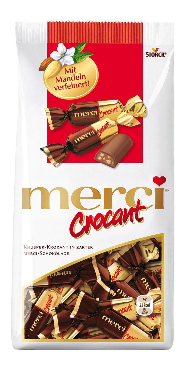 Merci Crocant Конфеты, 125 г0120710Merci Crocant – хрустящие шоколадные конфеты из уникальной коллекции merci. Нежнейший шоколад merci с хрустящей начинкой из дробленого фундука и миндаля создает уникальную комбинацию для изысканного наслаждения.