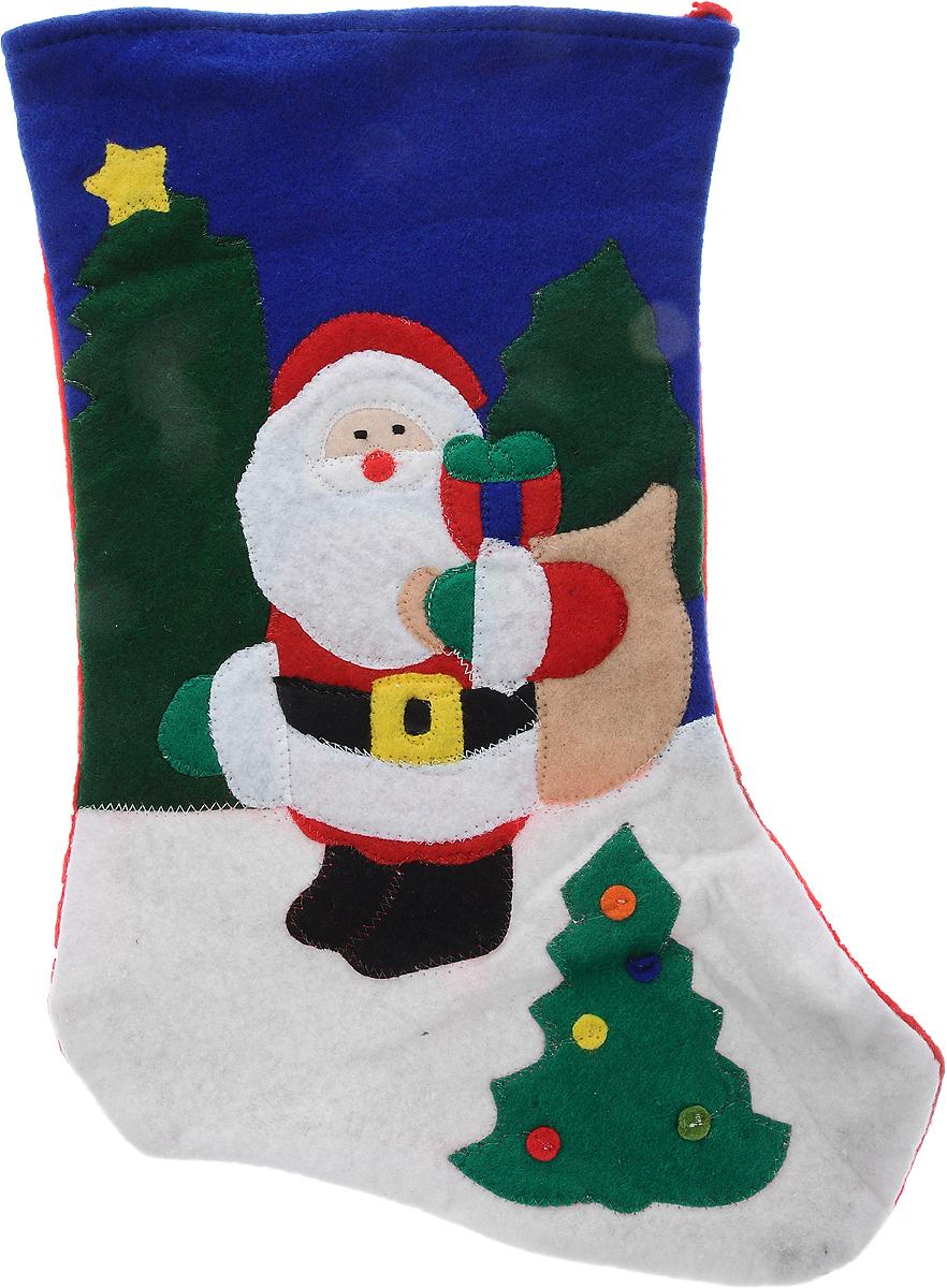 Мешок для подарков Winter Wings Носок. Дед Мороз, цвет: красный, синий, белый, 40 х 26 х 1 смSL250 503 09Мешок для подарков Winter Wings Носок. Дед Мороз выполнен из полиэстера в виде носка с изображением Деда Мороза. В мешочек можно спрятать подарки. С помощью специальной петельки украшение можно повесить в любом понравившемся вам месте. Новогодние украшения несут в себе волшебство и красоту праздника. Они помогут вам украсить дом к предстоящим праздникам и оживить интерьер по вашему вкусу. Создайте в доме атмосферу тепла, веселья и радости, украшая его всей семьей.