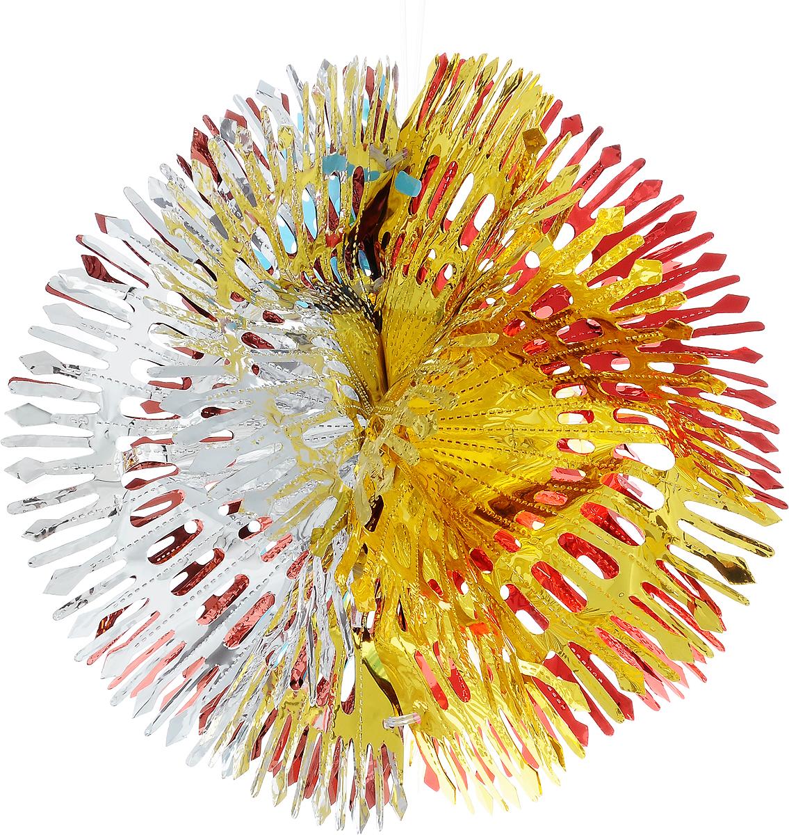 Украшение новогоднее подвесное Winter Wings Шар, диаметр 40 смN09337Новогоднее украшение Winter Wings Шар прекрасно подойдет для декора дома и праздничной елки. Изделие выполнено из ПВХ. С помощью специальной петельки украшение можно повесить в любом понравившемся вам месте. Легко складывается и раскладывается.Новогодние украшения несут в себе волшебство и красоту праздника. Они помогут вам украсить дом к предстоящим праздникам и оживить интерьер по вашему вкусу. Создайте в доме атмосферу тепла, веселья и радости, украшая его всей семьей.