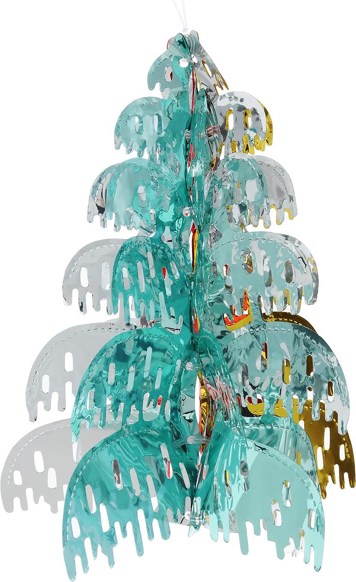 Украшение новогоднее подвесное Winter Wings Елочка, 30 х 24 х 24 смN09316Новогоднее украшение Winter Wings Елочка прекрасно подойдет для декора дома и праздничной елки. Изделие выполнено из ПВХ. С помощью специальной петельки украшение можно повесить в любом понравившемся вам месте. Легко складывается и раскладывается.Новогодние украшения несут в себе волшебство и красоту праздника. Они помогут вам украсить дом к предстоящим праздникам и оживить интерьер по вашему вкусу. Создайте в доме атмосферу тепла, веселья и радости, украшая его всей семьей.