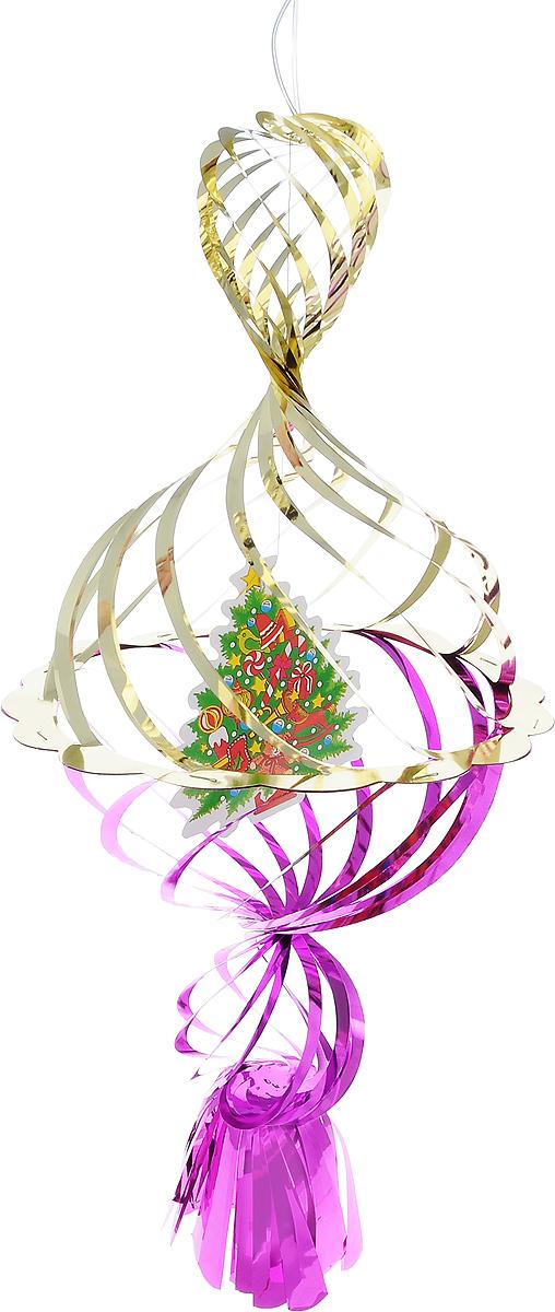 Украшение новогоднее подвесное Winter Wings Елочка, цвет: фиолетовый, золотистый, 40 х 20 х 20 смN09275Новогоднее украшение Winter Wings Елочка прекрасно подойдет для декора дома и праздничной елки. Изделие выполнено из ПВХ. С помощью специальной петельки украшение можно повесить в любом понравившемся вам месте. Легко складывается и раскладывается.Новогодние украшения несут в себе волшебство и красоту праздника. Они помогут вам украсить дом к предстоящим праздникам и оживить интерьер по вашему вкусу. Создайте в доме атмосферу тепла, веселья и радости, украшая его всей семьей.